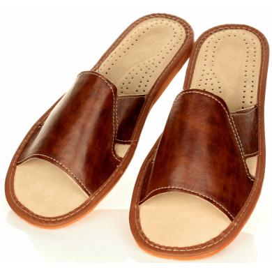 Kapcie męskie Pantofle Męskie Otwarte