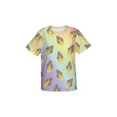 T-shirty Fullprint Śmieszny T-shirt Koszulka Oversize Fullprint EMOJI POOP