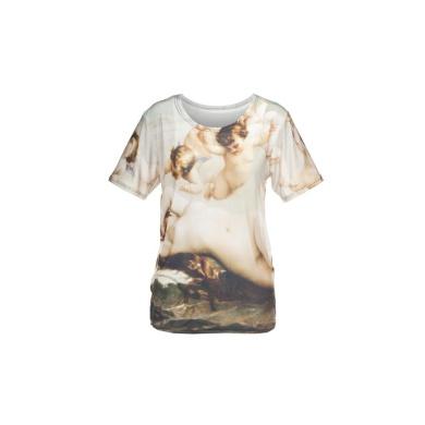 T-shirty Fullprint T-shirt Koszulka Oversize Fullprint NUDE Obraz