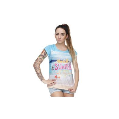T-shirty damskie T-shirt Koszulka damska Fullprint NAJLEPSZE WAKACJE