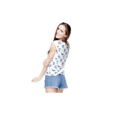 T-shirty damskie T-shirt Koszulka damska Fullprint DELFINY KOTWICE